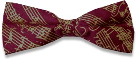 Musical Theme Silk Bow Tie (white/cream with black notation) - REDUCED