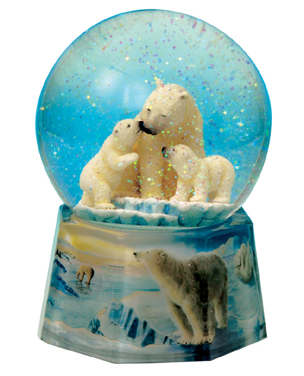 Twinkle Polar Bear Musical Water Globe Available From The Music Box Shop Bristol