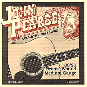 John Pearse 80/20 Bronze Acoustic Guitar Strings
