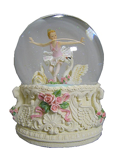 Ballerina and Swan Musical Waterglobe 25209