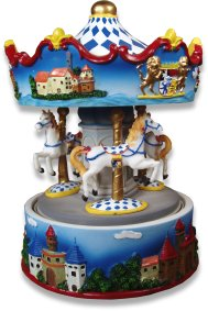 Bavarian Music Box Carousel 14062