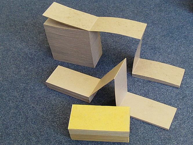 Blank folding cardboard For Making Organ Books