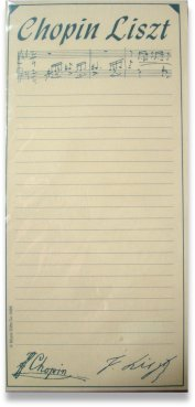 Chopin Liszt Shopping List Pad CL01