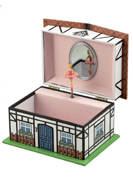 Cottage Musical Jewellery Box 28056