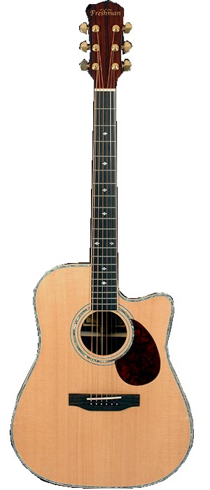 Freshman Apollo2DC Dreadnought Cutaway Electro-Acoustic Guitar