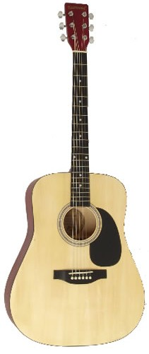 UK Online Guitar Shop, electric, acoustic and bass guitars, Full Size Rikter Steel Strung Acoustic Guitar D2 Full