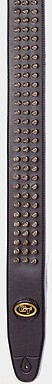 Guitar Tech Black Studded Guitar Strap