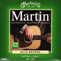 Martin Acoustic Guitar 12 string strings, Bronze, Acoustic Strings From The Music Box Shop & Music Shop Direct