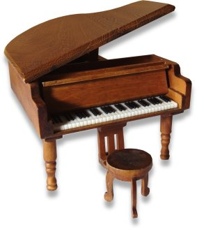 Miniature Musical Grand Piano Mi17