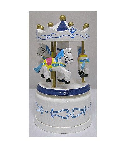 Miniature Musical  Wooden Carousel 16013