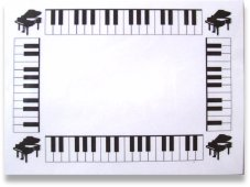 Music Theme Post It Note Pad PIN050