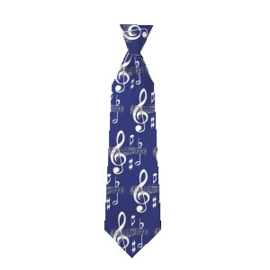 Musical Theme Blue Tie MNT03