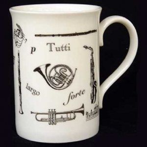 Musical Theme Bone China Mug BCM05