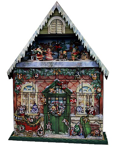 Musical Wooden Advent Calendar House 45075