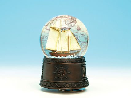Sailing Boat Musical Waterglobe 25101