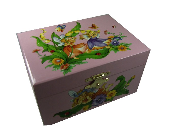 GIRLS JEWELLERY BOXES, CHILDREN'S MUSIC BOXES,Fairies Music Box CB22017